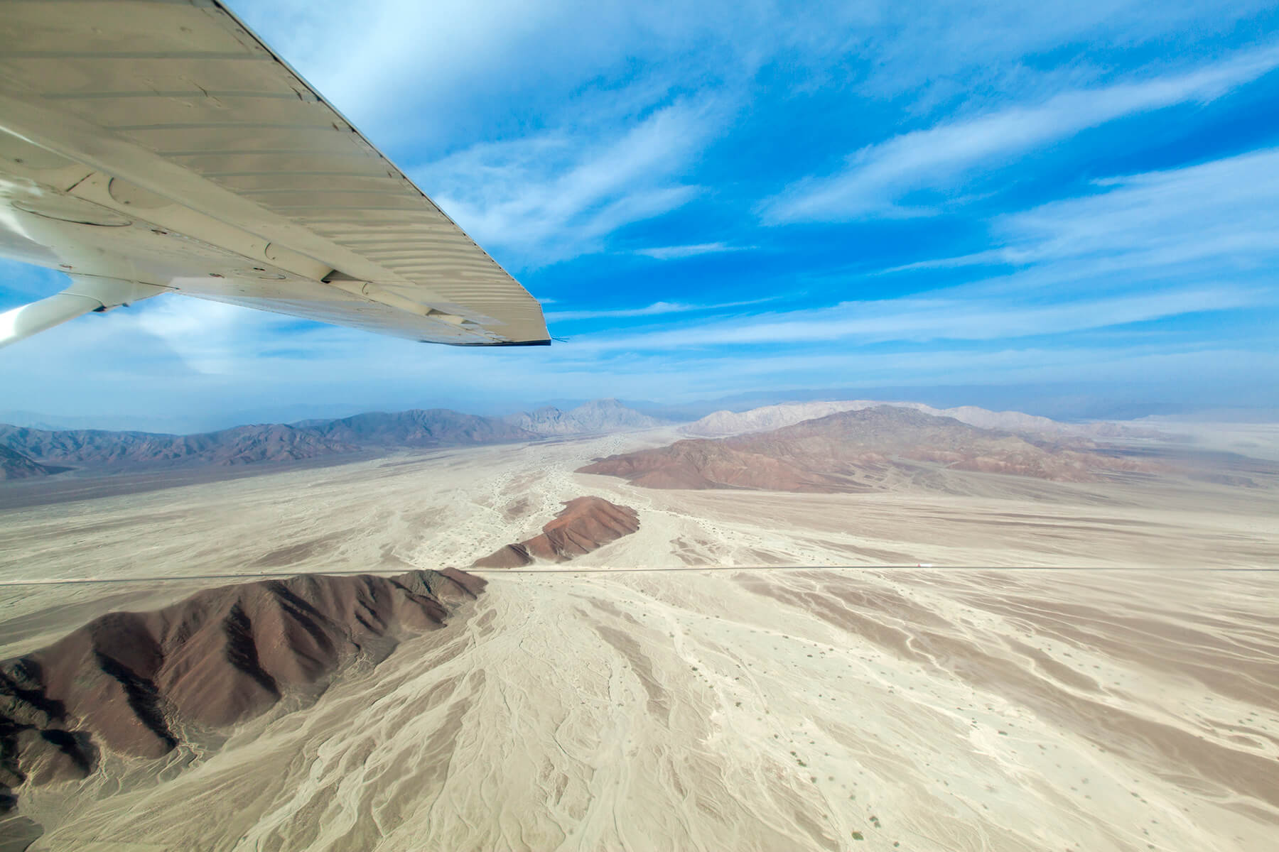 A flight over the Nazca lines with amazing views of the landscape