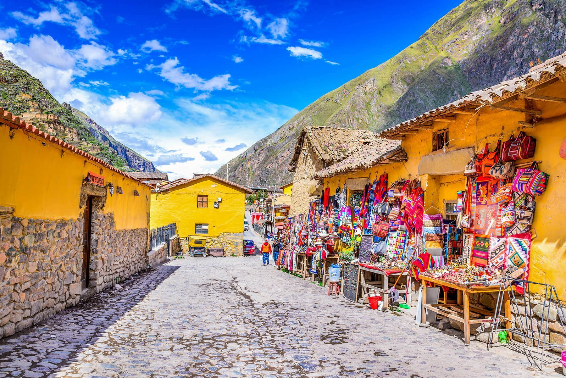 Ollantaytambo in Peru is known for the Inca ruins of Sacred Valley