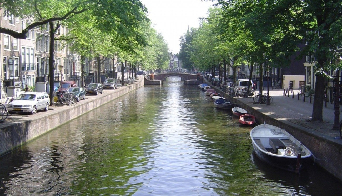 Amsterdam city centre and canals