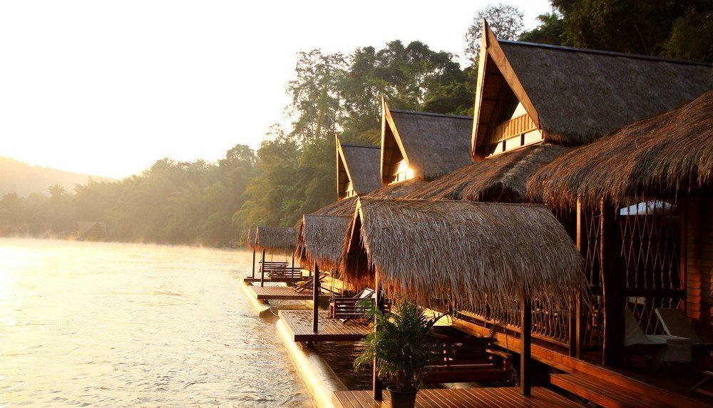 Sleep in a floating hotel on the River Kwai