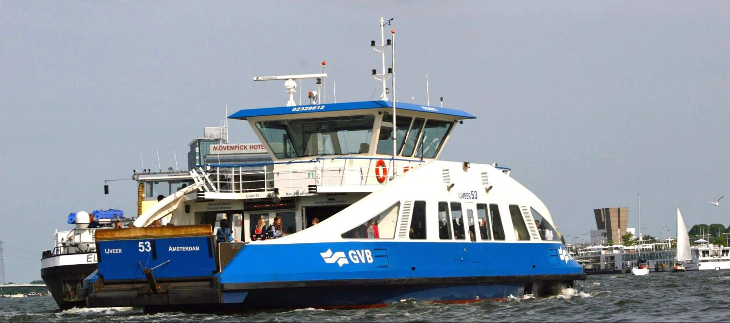Take the ferry to Amsterdam-North