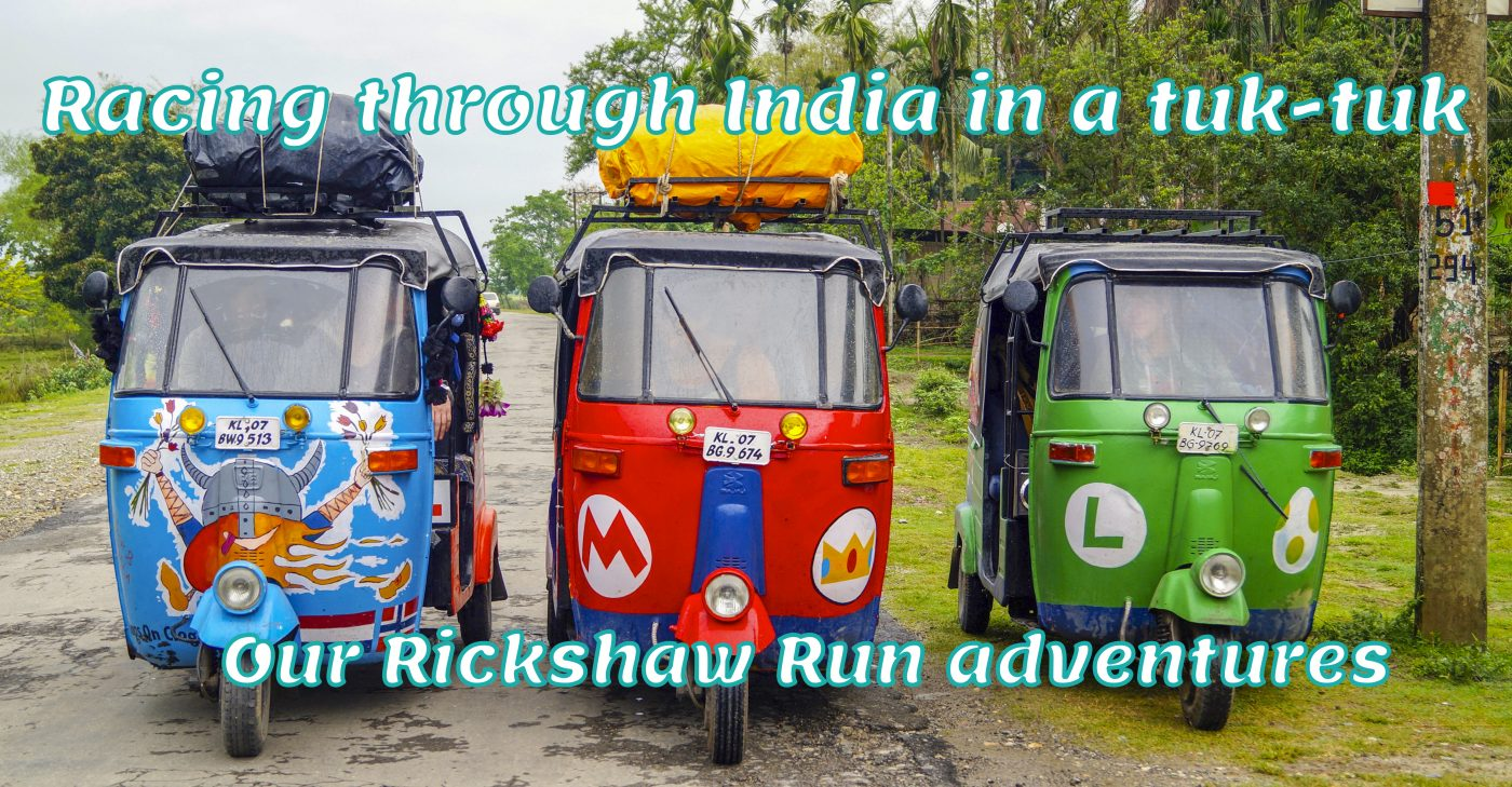 Racing through India in a tuk-tuk